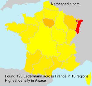 Familiennamen Ledermann - France