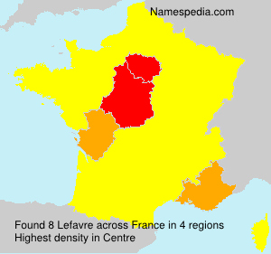 Surname Lefavre in France