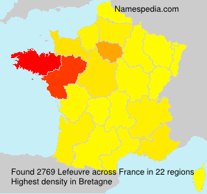 Surname Lefeuvre in France