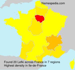 Surname Lefki in France