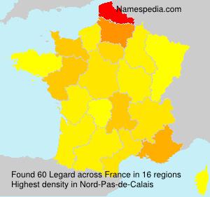 Surname Legard in France