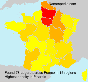 Surname Legere in France