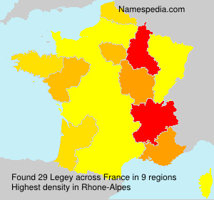 Surname Legey in France