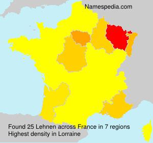 Surname Lehnen in France