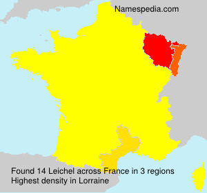 Familiennamen Leichel - France