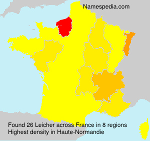 Surname Leicher in France