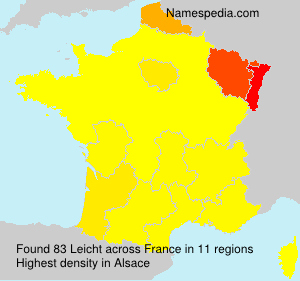 Surname Leicht in France