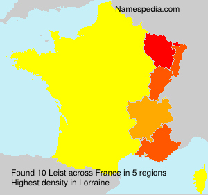 Surname Leist in France