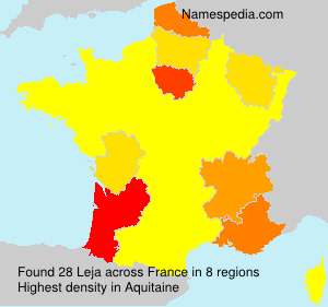 Surname Leja in France