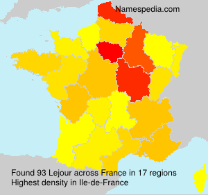 Familiennamen Lejour - France