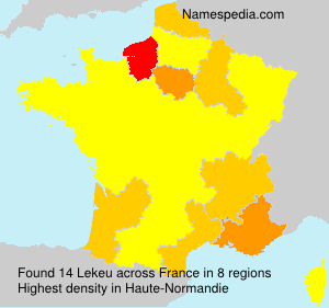Surname Lekeu in France
