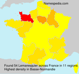 Surname Lemaresquier in France