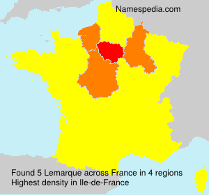 Surname Lemarque in France