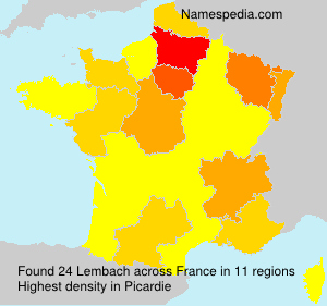 Surname Lembach in France