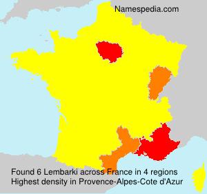 Familiennamen Lembarki - France
