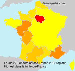 Surname Lenaers in France
