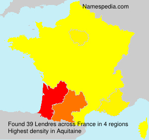 Surname Lendres in France