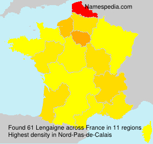 Surname Lengaigne in France