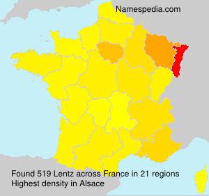 Surname Lentz in France