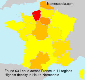Surname Lenud in France