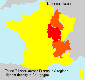 Familiennamen Lenzu - France