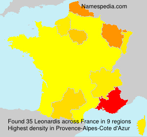 Surname Leonardis in France