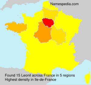 Familiennamen Leonil - France