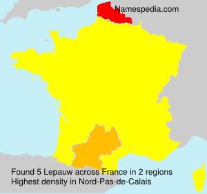 Surname Lepauw in France