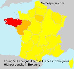 Familiennamen Lepeigneul - France