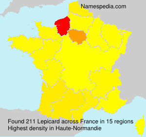 Surname Lepicard in France