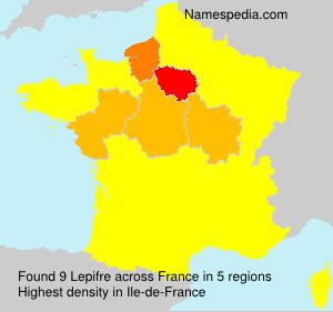 Familiennamen Lepifre - France