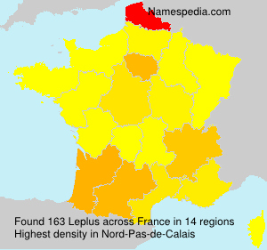 Surname Leplus in France