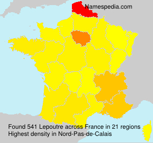 Familiennamen Lepoutre - France