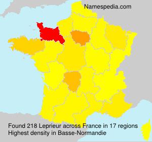 Surname Leprieur in France