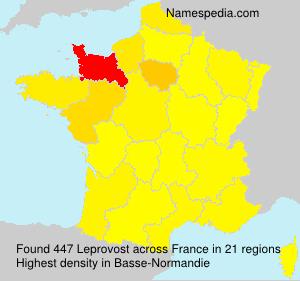 Surname Leprovost in France