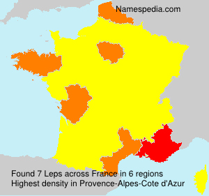 Familiennamen Leps - France