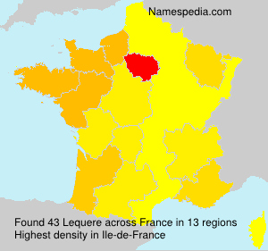 Surname Lequere in France