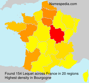 Surname Lequet in France
