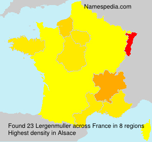 Surname Lergenmuller in France