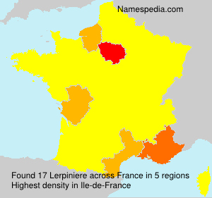 Surname Lerpiniere in France