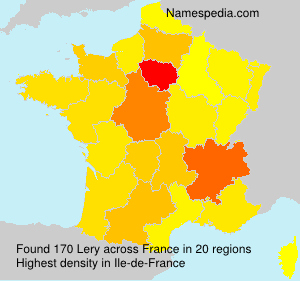 Surname Lery in France