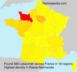 Surname Lesaulnier in France