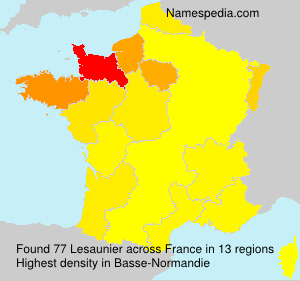 Surname Lesaunier in France