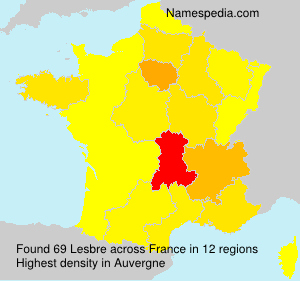 Surname Lesbre in France