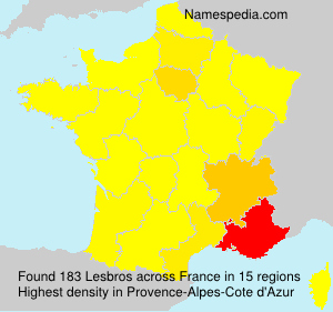 Surname Lesbros in France