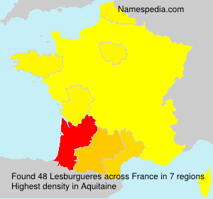Surname Lesburgueres in France