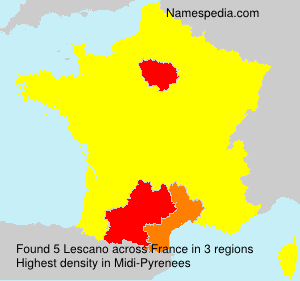 Surname Lescano in France