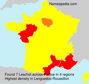 Familiennamen Leschot - France