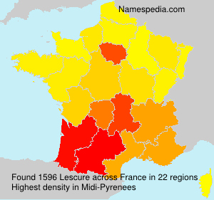 Surname Lescure in France