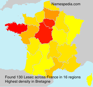 Surname Lesec in France